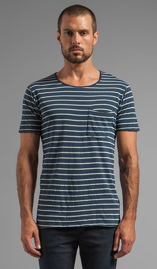 Enkel Stripe Pocket Tee
