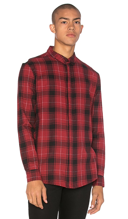 NEUW Enkel Shirt in Red Check