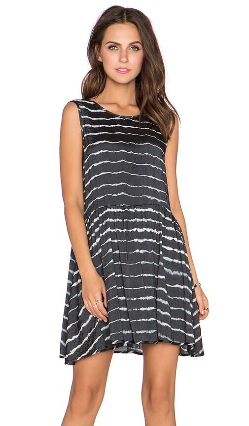NEUW Drape Dress in Black Tie Dye