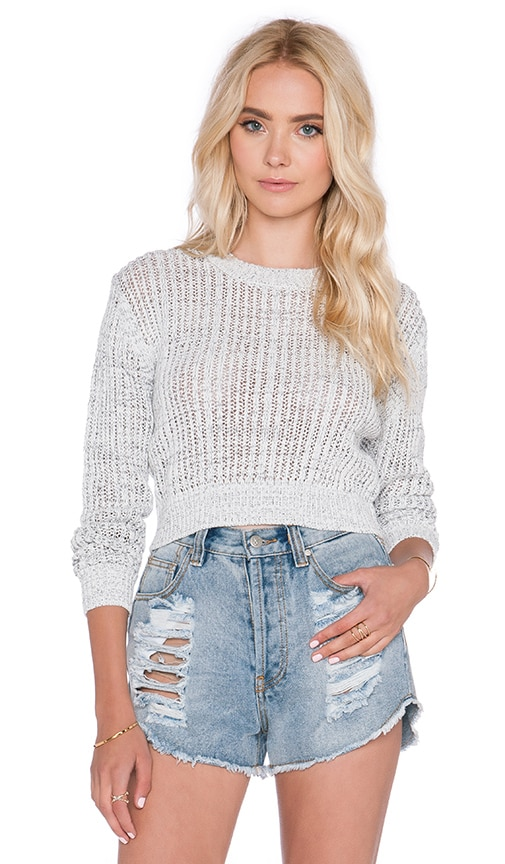 NEUW Louie Crew Sweater in White & Black