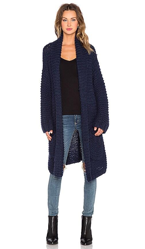 NEUW Hand Knit Cardigan in Indigo