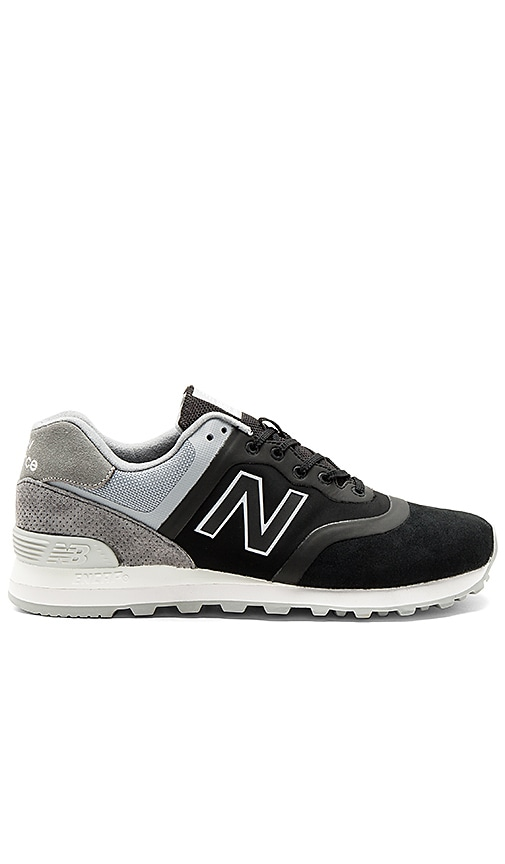 best sneakers f1a13 678ae New Balance MTL574 in Black & Grey | REVOLVE