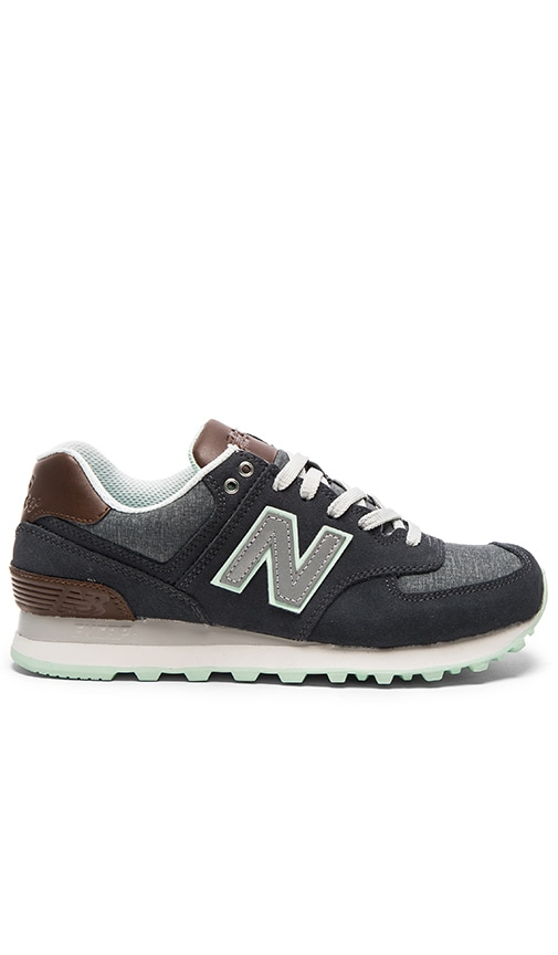 New Balance 574 Cruisin' Sneaker in Orca & Seafoam