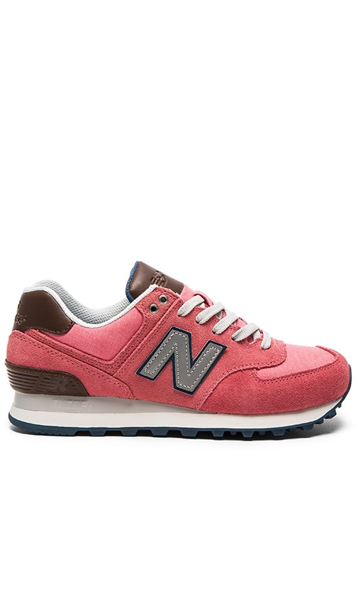 New Balance 574 Cruisin' Sneaker in Mineral Pink & Grey