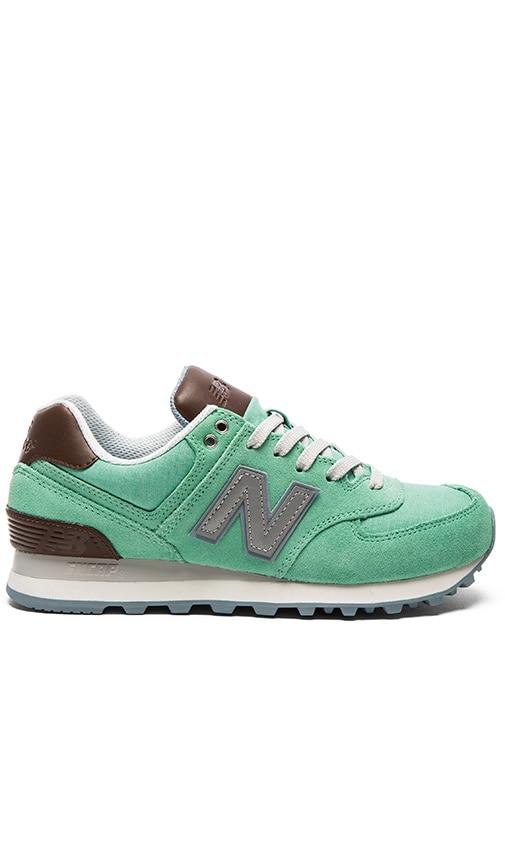 New Balance 574 Cruisin' Sneaker in Mint