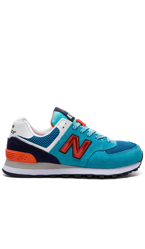New Balance 574 Summit Sneaker in Turquoise