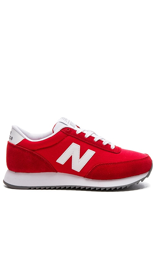New Balance 90's Traditional Sneaker in Red & White