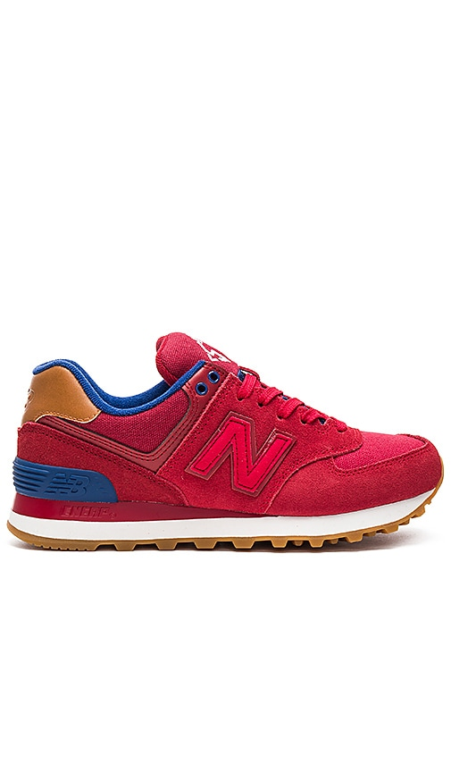 New Balance 574 Collegiate Pack Sneaker in Red