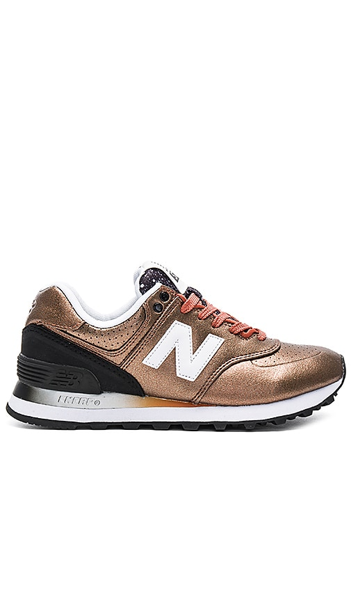 new balance 574 black and bronze nz