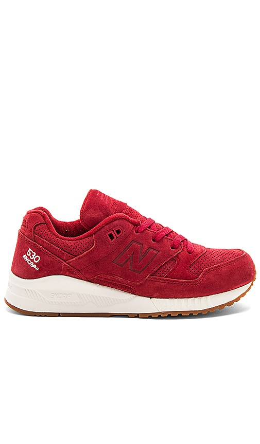 New Balance Lux Suede Sneaker in Red
