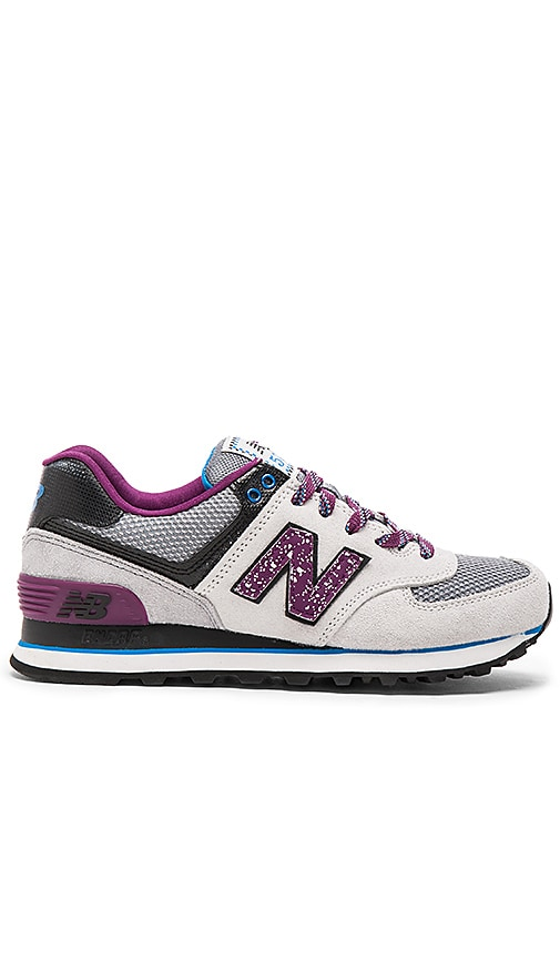 New Balance 574 Outside In Collection Sneaker in Grey & Purple