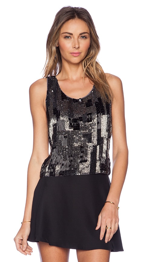 New Friends Colony Embellished Tank in Grey