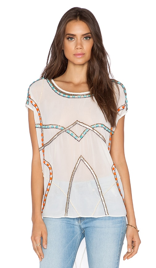 New Friends Colony Short Sleeve Top in Ivory