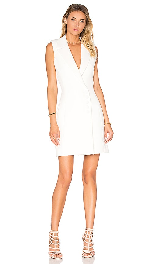 NICHOLAS Textured Crepe Sleeveless Dress in Ivory