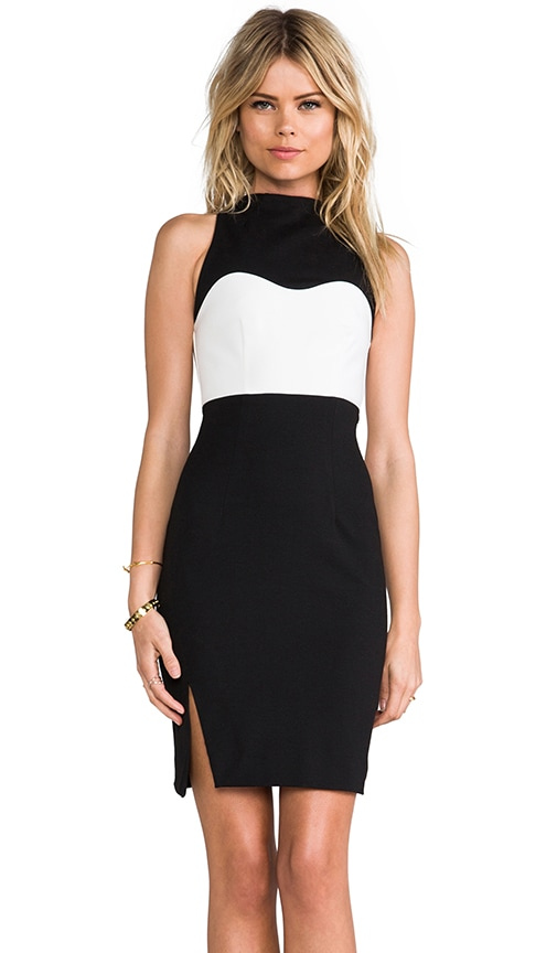 High Neck Contrast Dress