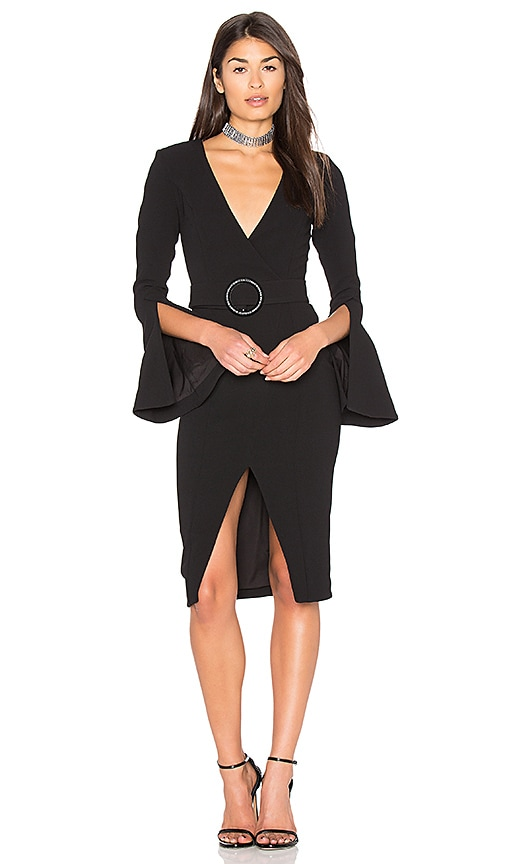 NICHOLAS Textured Crepe Blazer Dress in Black