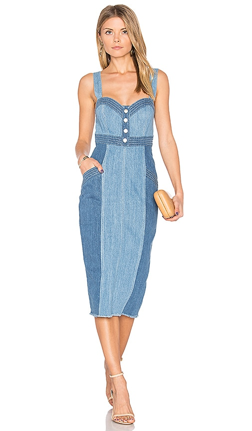 n / nicholas Denim Pinafore Dress in Blue