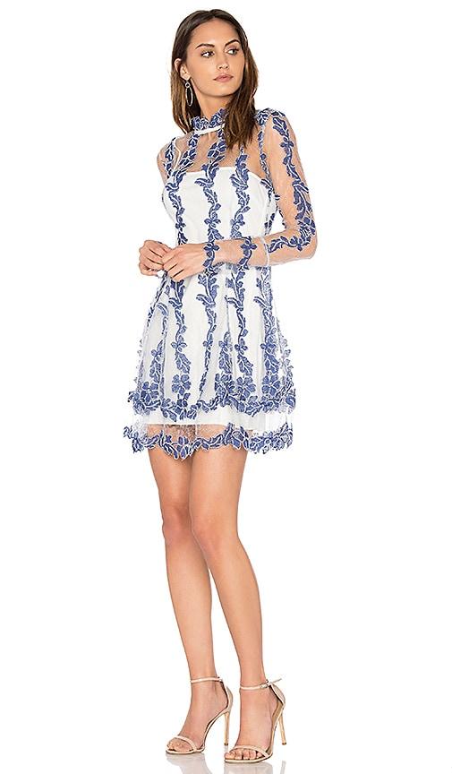 n / nicholas Orchid Flare Dress in Blue