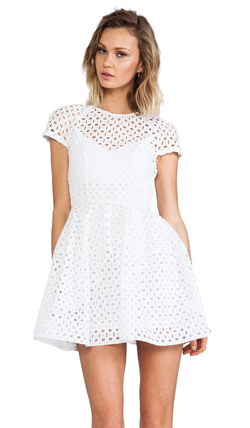 Broderie Lace Cap Sleeve Dress