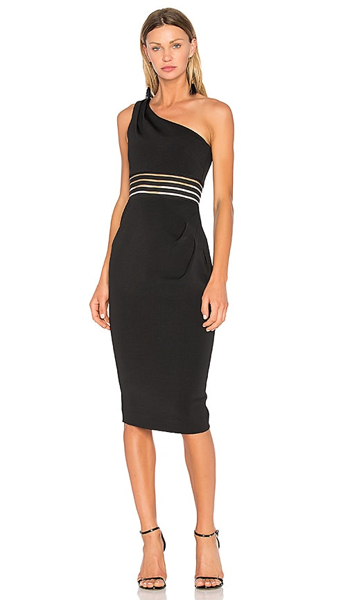 NICHOLAS Bandage Dress in Black