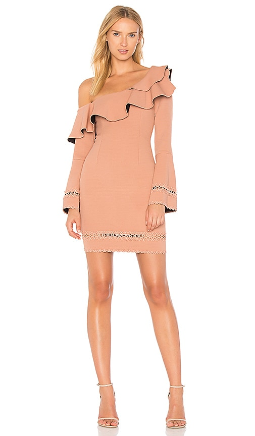 NICHOLAS Bandage One Shoulder Dress in Rose