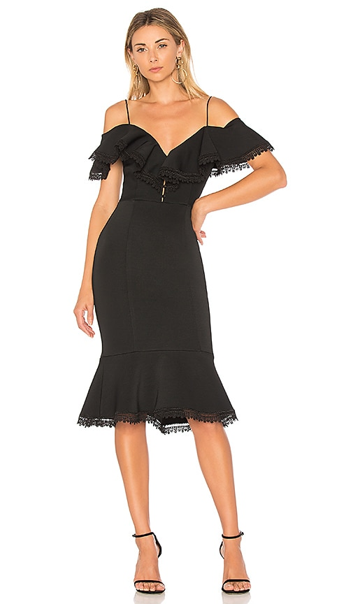 Nicholas Bandage Midi Dress In Black Revolve