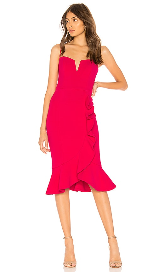 Bandage One Shoulder Dress in Rose. - size 2 (also in 0,8) Nicholas