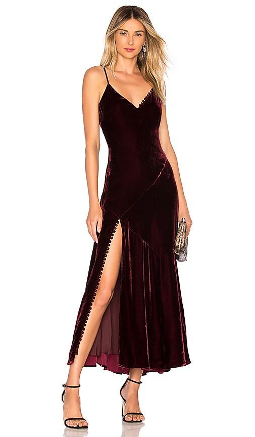 Silk Velvet Slip Panel Dress