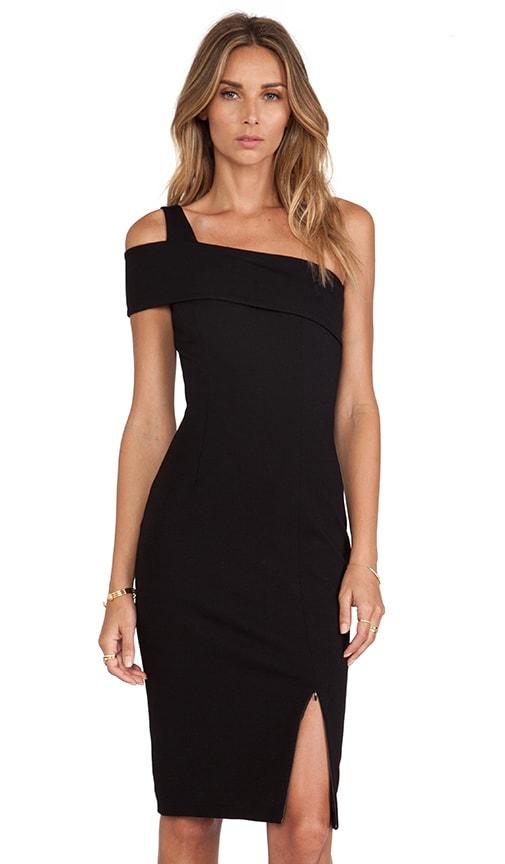 Ponti Wrap Backless Dress