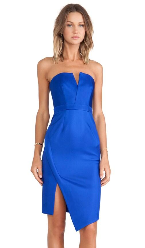 Bonded Silk Strapless Dress