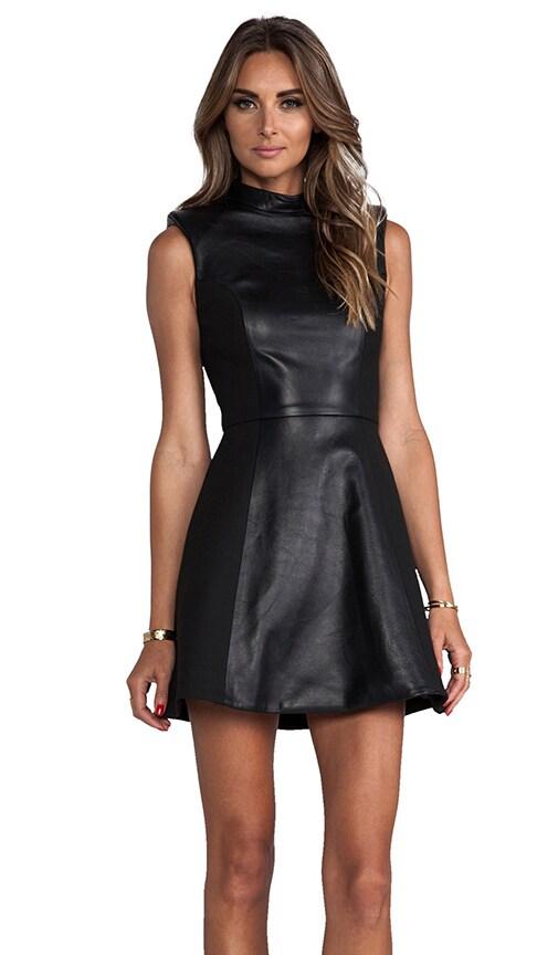 Leather High Neck Dress