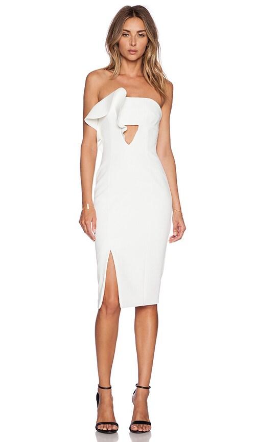 NICHOLAS Ruffle Dress in White  353482295