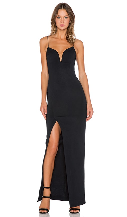 Nicholas Bandage V Wire Dress In Black Revolve
