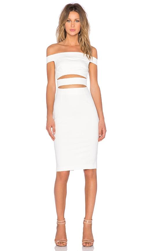 2fccef727f33 NICHOLAS Ponti Off Shoulder Strap Dress in White