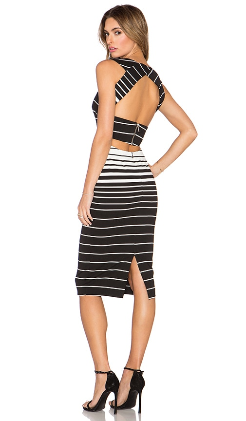 Corsica Stripe Deep V Dress