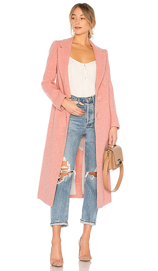 NICHOLAS Long Double Coat in Pink