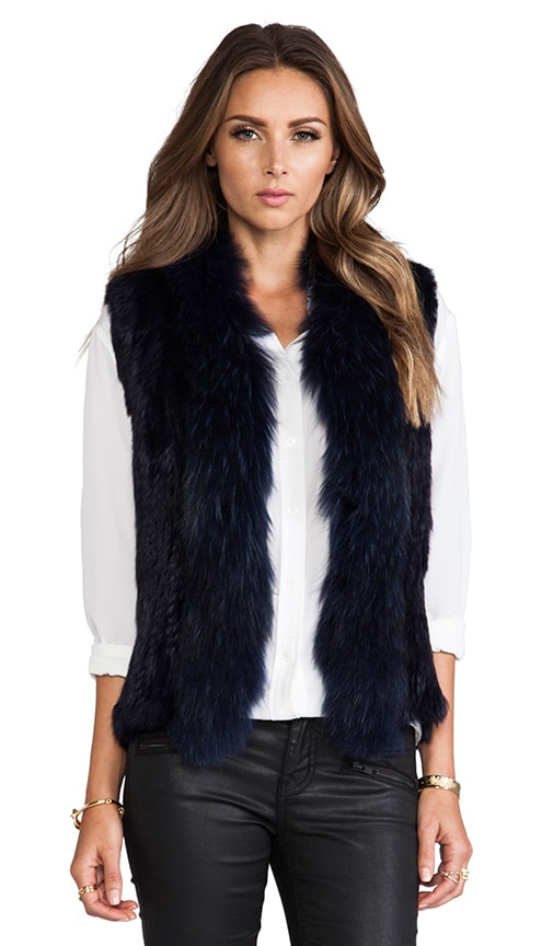 Knitted Fur Trim Vest