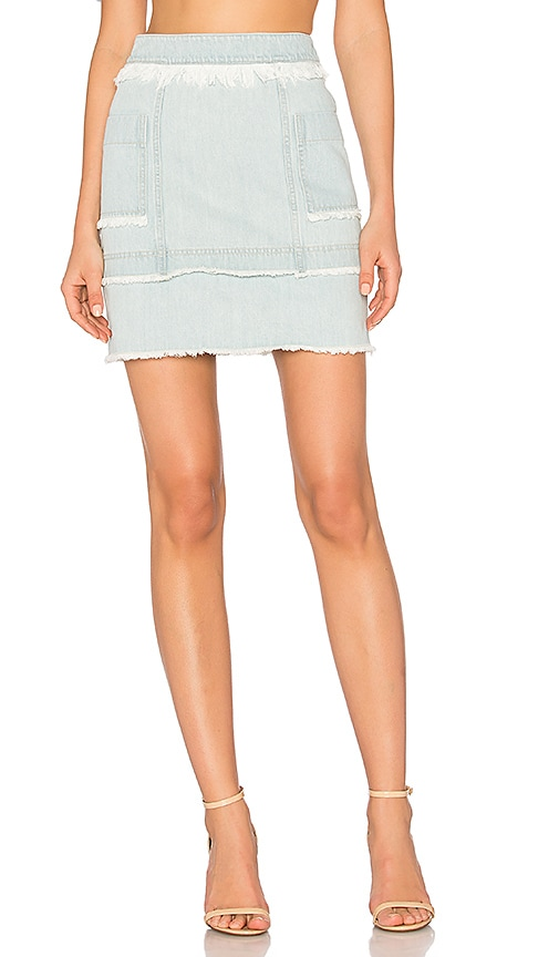 Denim Paneled Skirt