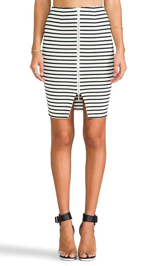 Breton Stripe Pencil Skirt