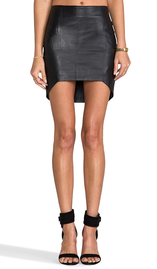 Leather Up/Down Skirt