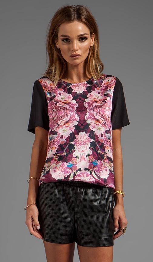 Rose Relfect Silk T-Shirt
