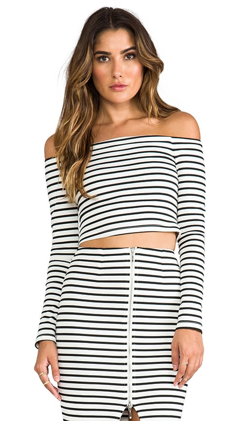 Breton Stripe Off the Shoulder Top