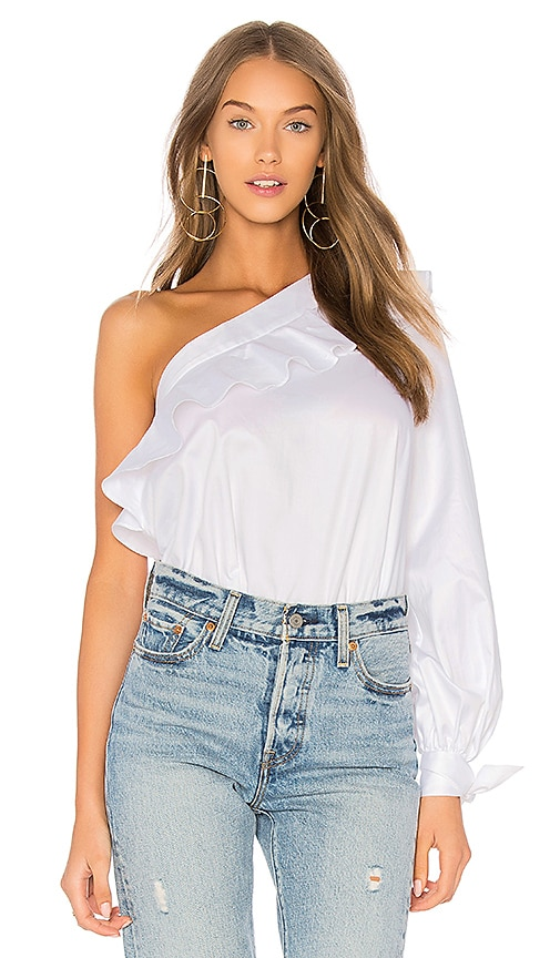 n / nicholas One Shoulder Top in White