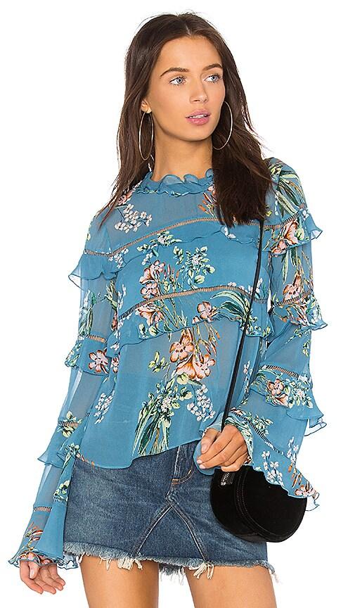 NICHOLAS Delphine Top in Turquoise