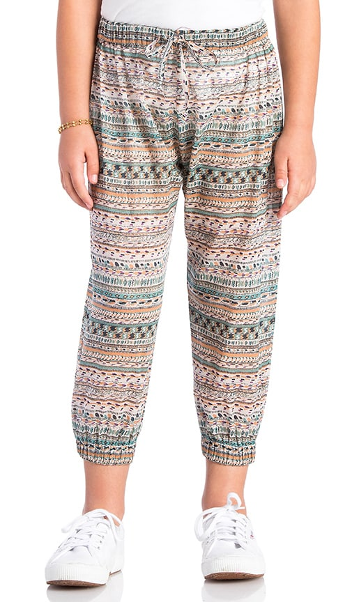 Nightcap Harem Printed Pant in Beige