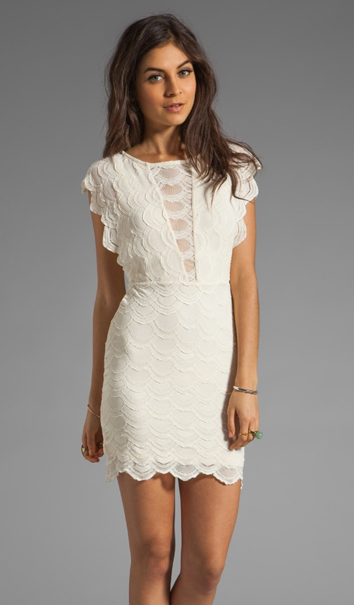 Caletto Victorian Lace Mini Dress