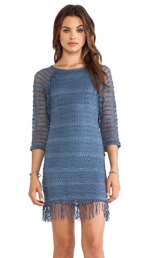 Fringe Lace Raglan Dress
