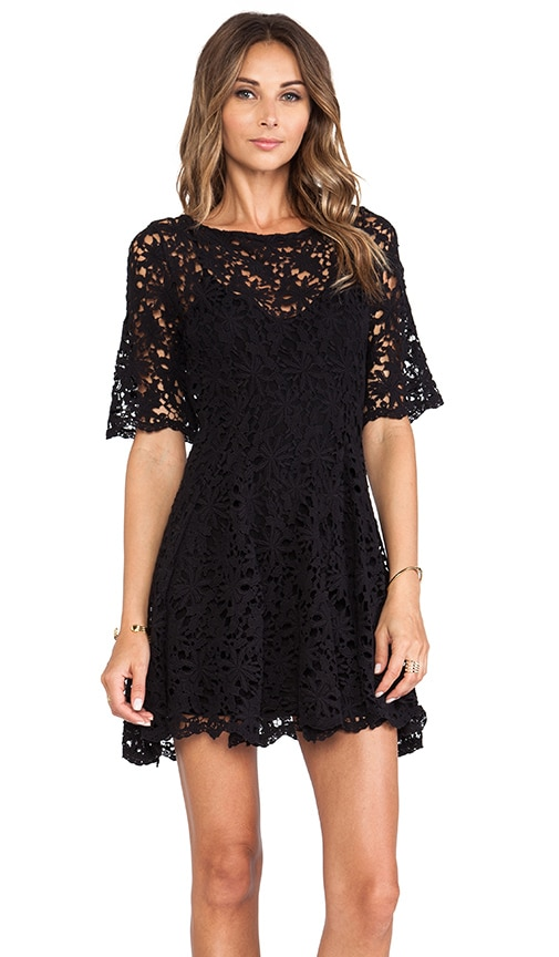 Daisy Crochet Fit and Flare Dress