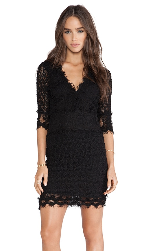 Florence Lace Deep V Dress
