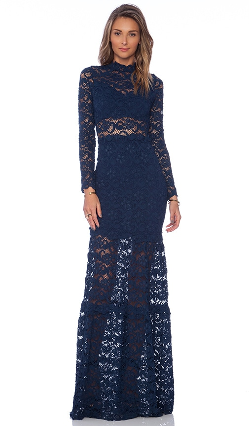 Dixie Lace Long Sleeve Gown